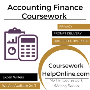 Accounting Finance Coursework Writing Service