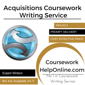 Acquisitions Coursework Writing Service