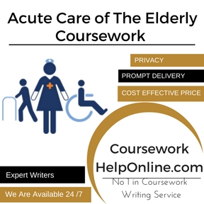 Acute Care of The Elderly Coursework Writing Service