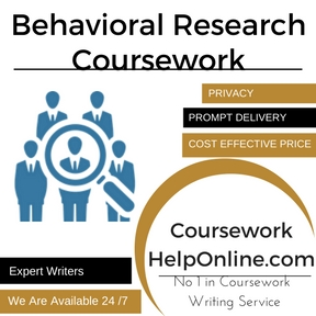 Behavioral Research Coursework Writing Service