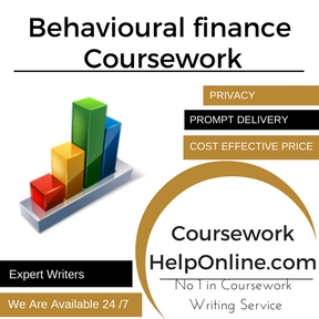 Behavioural finance Coursework Writing Service