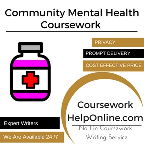 Community Mental Health Coursework Writing Service