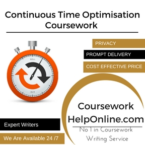 Continuous Time Optimisation Coursework Writing Service