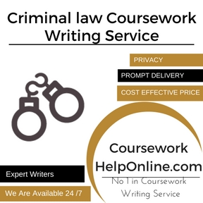 Criminal law Coursework Writing Service