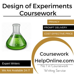 Design of Experiments Coursework writing Service