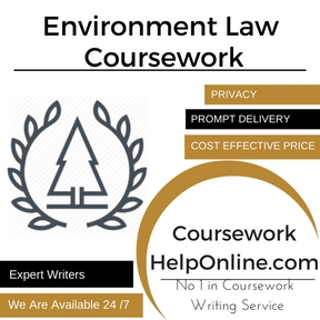 Environment Law Coursework Writing Service