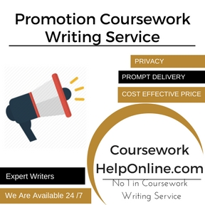 Promotion Coursework Writing Service