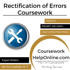 Rectification of Errors Coursework Writing Service