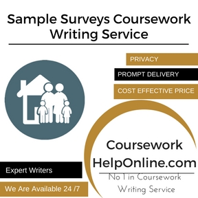 Sample Surveys Coursework Writing Service
