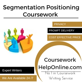 Segmentation Positioning Coursework Writing Service