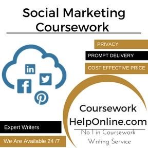 Social Marketing Coursework writing Service